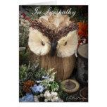Sympathy Owl with spiritual verse Card