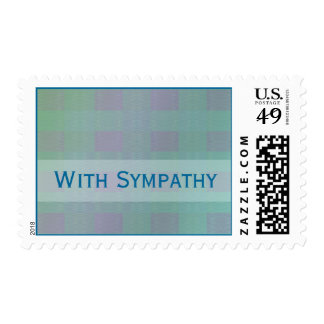 sympathy pastel teal customizable stamps