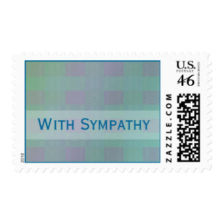 sympathy pastel teal customizable postage stamps