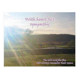 sympathy postcard