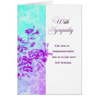 Sympathy (purple) card