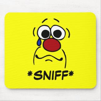 Sympathy Smiley Face Grumpey Mouse Pad