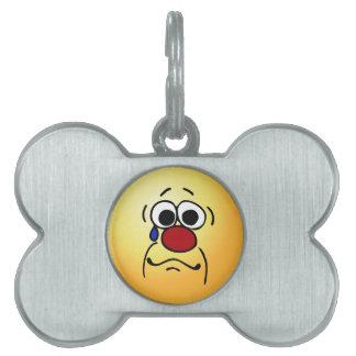 Sympathy Smiley Face Grumpey Pet Tag