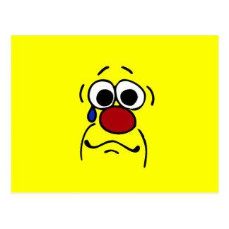 Sympathy Smiley Face Grumpey Postcard