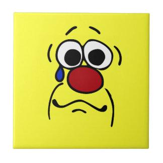 Sympathy Smiley Face Grumpey Tile