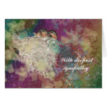 Sympathy -Sorry for your loss barn swallow fantasy Greeting Card