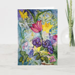 Sympathy Spring Flower Watercolor Card