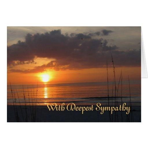 Sympathy Sunset Frye Poem Card