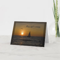 Sympathy Sunset with Sailboat Card