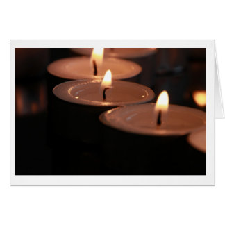 Sympathy Tealight Candle Card