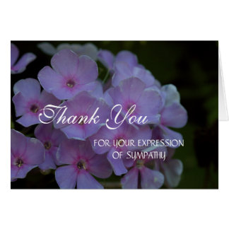 Sympathy Thank You Stationery Note Card