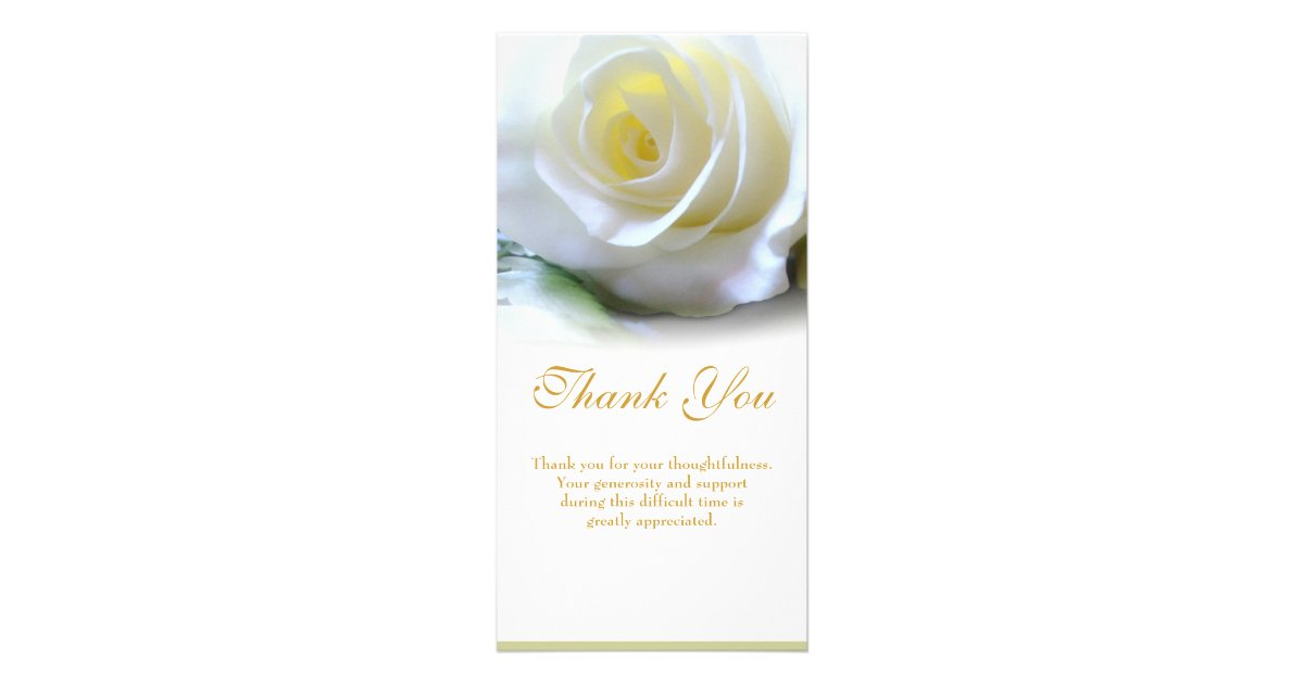 Sympathy Thank You Card | Zazzle