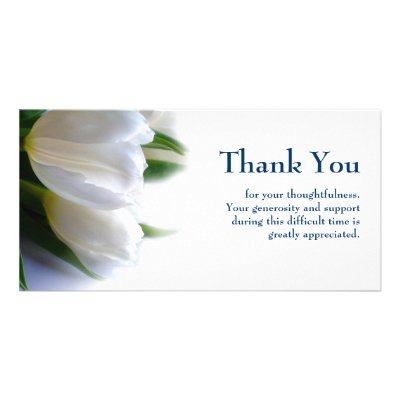 White Template Sympathy Thank you with Gray Border – Sympathy Thank You Notes