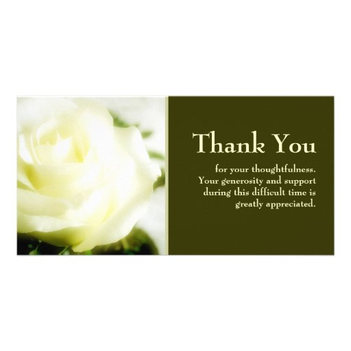 Sympathy thank you card zazzle for Thank you note for condolence gift