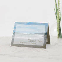 Sympathy Thank You Card - Beach
