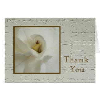 Sympathy Thank You Card -- Gardenia Sympathy Greeting Card