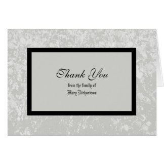 Sympathy Thank You Card in Classic Gray Greeting Card