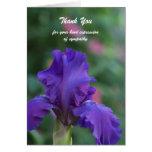 Sympathy Thank You Card -- Iris