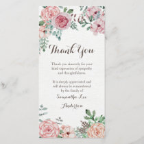 Sympathy Thank You Card, Memorial