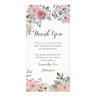 Sympathy Thank You Card, Memorial Card