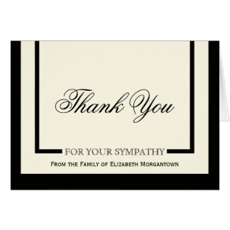 Sympathy Thank You Cards - Classic Cream