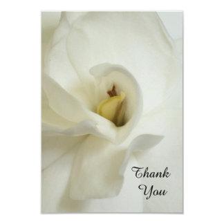 """Sympathy Thank You Flat Card - Gardenia 3.5"""" X 5"""" Invitation Card"""