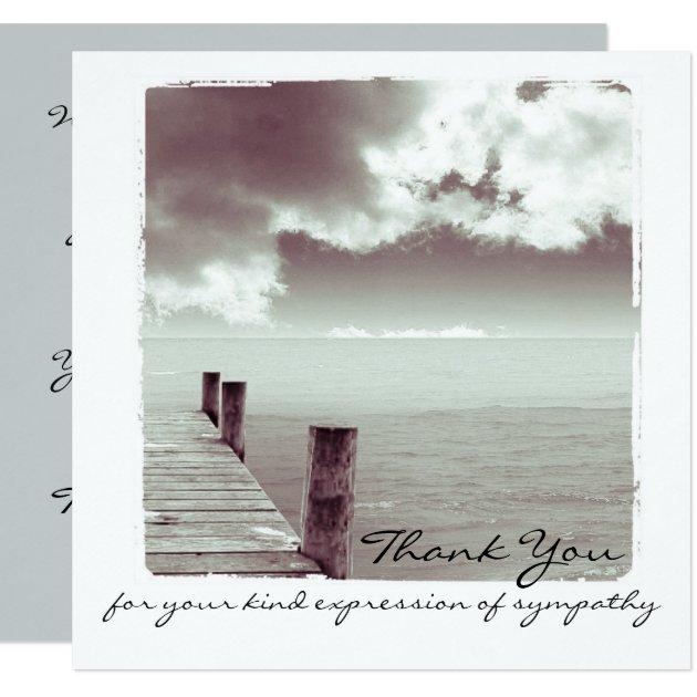 Sympathy Thank You Flat Photo Card | Zazzle
