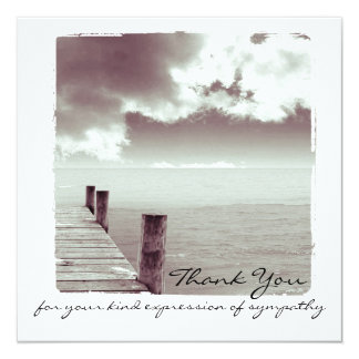 Sympathy Thank You Flat Photo Card