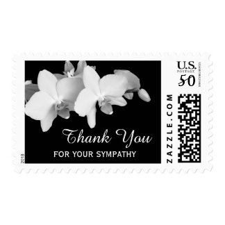 Sympathy Thank You Medium Postage Stamps - Orchid