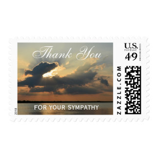 Sympathy Thank You Medium Postage Stamps - Sunset