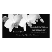Sympathy Thank You Memorial Photo Card - Orchids