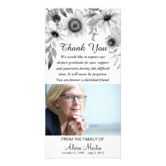 Sympathy Thank You Memorial Rustic Sunflowers Card