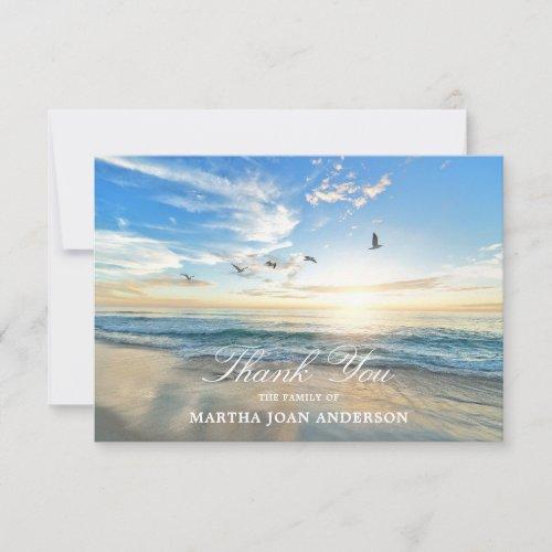 Sympathy THANK YOU Memorial Sunset Ocean Beach