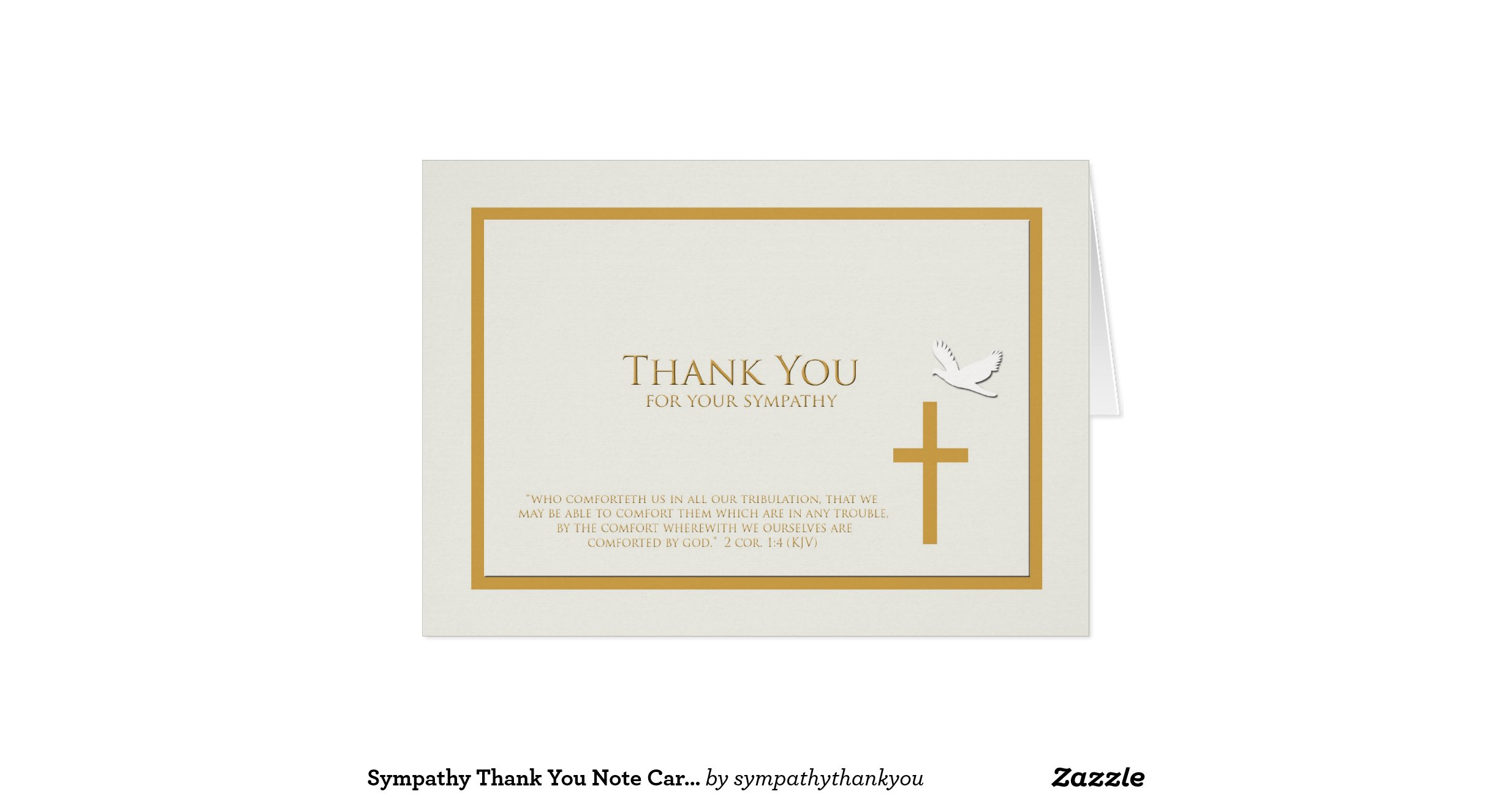 Sympathy thank you note card christian for Thank you note for condolence gift
