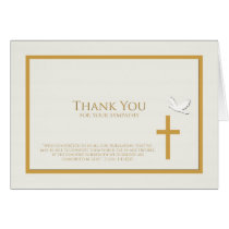 Sympathy Thank You Note Card -- Christian