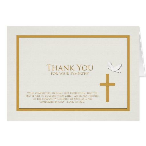 Sympathy_thank_you_note_card_christian 137930587982054557 on Horizontal Writing Paper