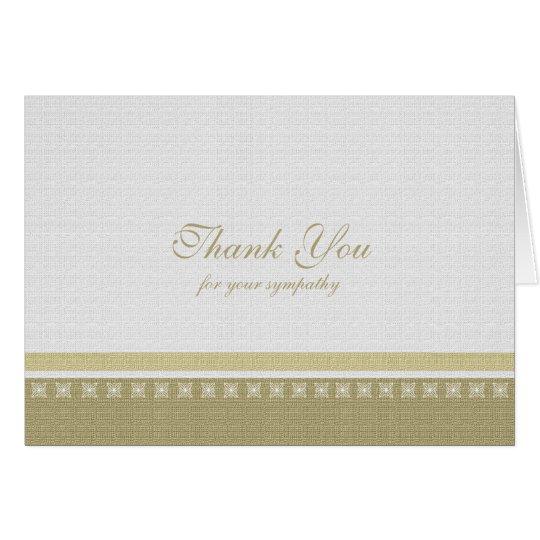 Sympathy Thank You Note Card - Classic Elegance