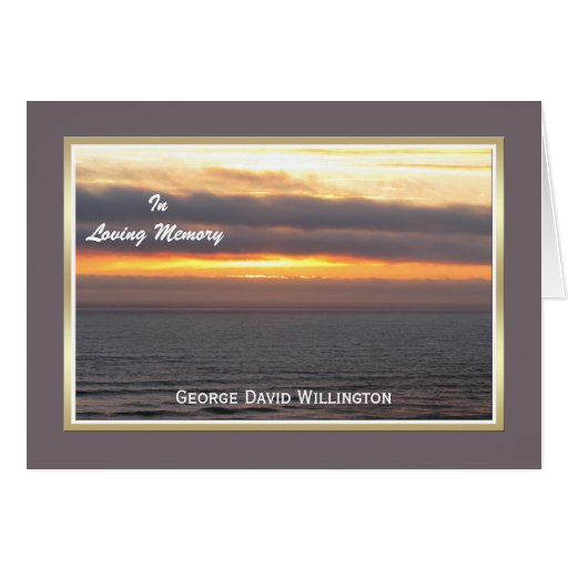 Sympathy Thank You Note Card  -- Custom Front