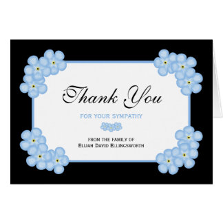 Sympathy Thank You Note Card -- Forget Me Nots