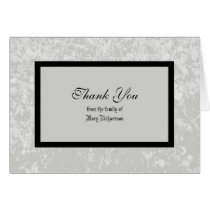 Sympathy Thank You Note Card in Classic Gray