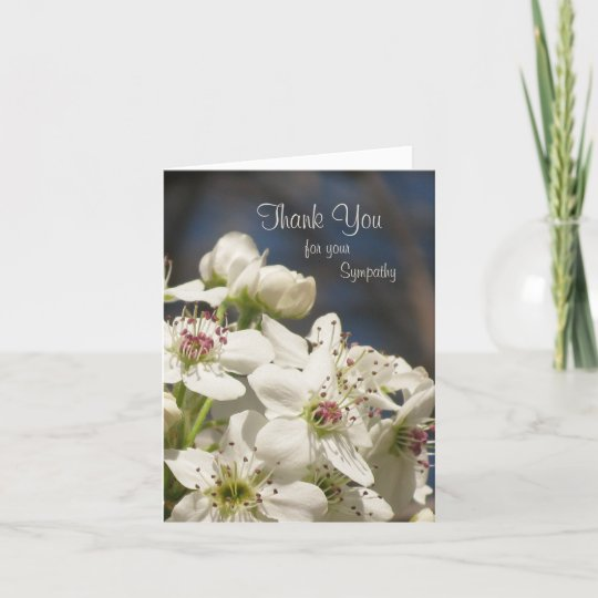 sympathy thank you note card  spring blossoms  zazzle