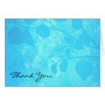 Sympathy Thank You Note Card  - Trees In Blue Mist