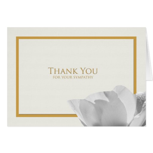 sympathy thank you note card tulip zazzle