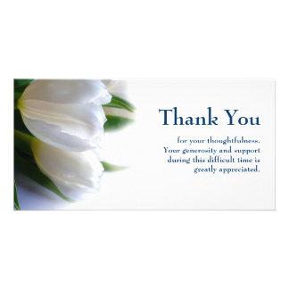 Sympathy thank you photo card for Thank you note for condolence gift