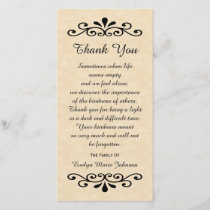 Sympathy Thank You Photo Card Parchment Look