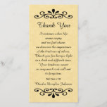 """Sympathy Thank You Photo Card Parchment Look Gold<br><div class=""""desc"""">This stunning parchment look sympathy thank you photo card features decorative elements on the top and bottom with a beautiful sentiment in the middle for thanking everyone for their sympathy during this difficult time.  You can also customize the design with your loved one&#39;s name.  Copyright sympathythankhyou</div>"""