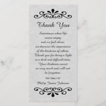 Sympathy Thank You Photo Card Parchment Look Gray