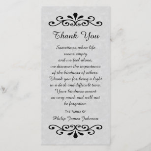 sympathy thank you photo card parchment look gray - Condolence Thank You Cards