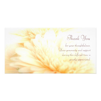 Sympathy Thank You Photo Card Template
