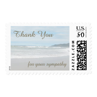 Sympathy Thank You Postage Stamps - Beach